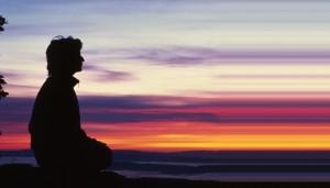 Meditation Banded Sunset