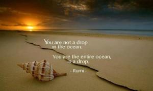 Ocean in a drop - Rumi